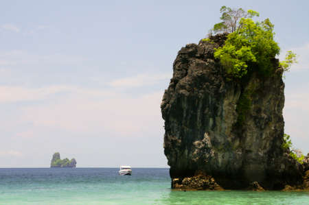 individual rocks in the Andaman Sea in Thailand