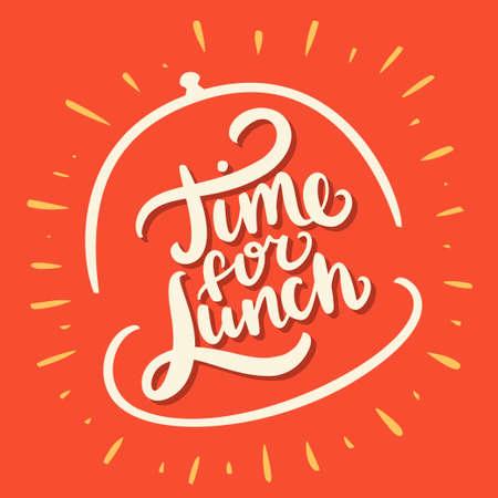 Vektor für Time for lunch. - Lizenzfreies Bild