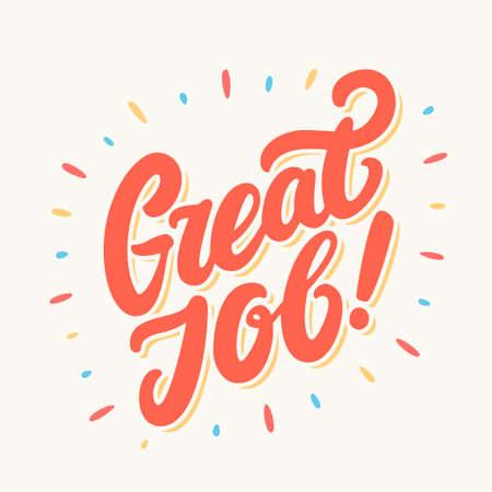 Illustration for Great Job banner. - Royalty Free Image