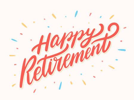 Illustration pour Happy Retirement banner. - image libre de droit