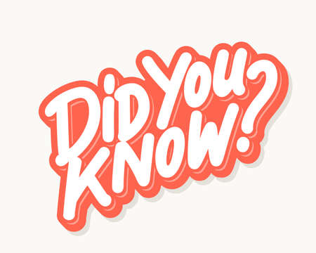 Illustration for Did you know. Lettering. - Royalty Free Image