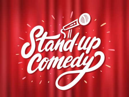 Illustration pour Stand-up comedy. Vector background. - image libre de droit