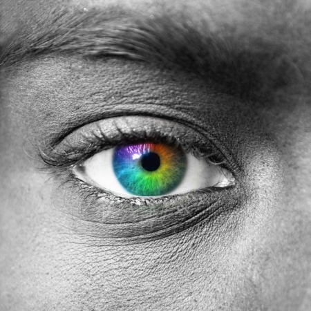 Photo for Colorful eye extreme close-up - Royalty Free Image