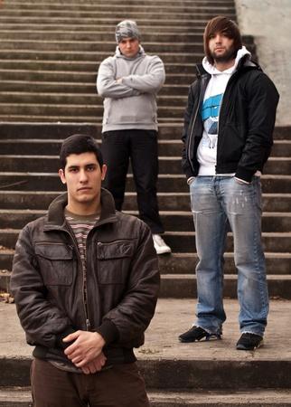 Band members posing
