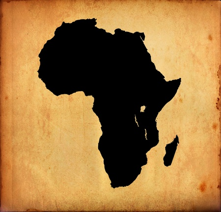 Grunge map of Africa