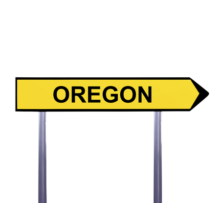 Conceptual arrow sign isolated on white - OREGON