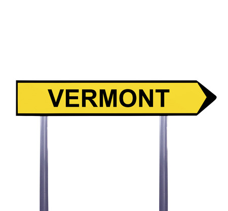 Conceptual arrow sign isolated on white - VERMONT