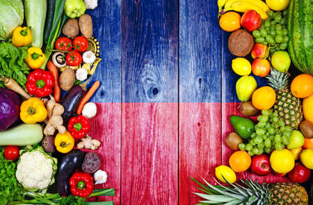 Photo for Fresh fruits and vegetables from Liechtenstein - Royalty Free Image
