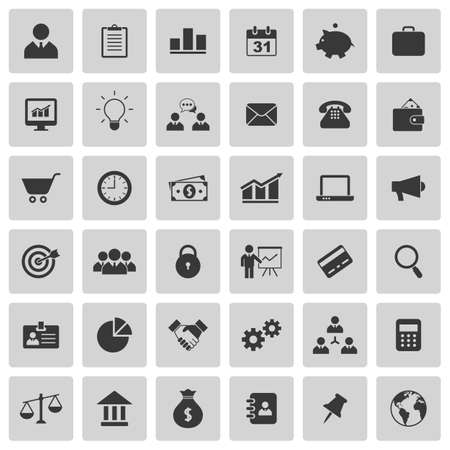 Ilustración de Business icons set. Vector illustration - Imagen libre de derechos