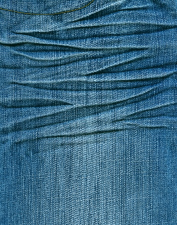 Striped textured blue used jeans denim linen vintage background