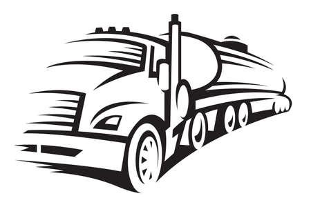 Illustration pour fuel truck - image libre de droit