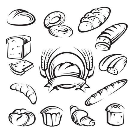 Vektor für bread - Lizenzfreies Bild