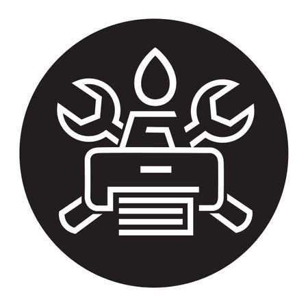 monochrome icon printer service