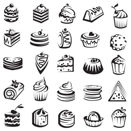 Vektor für set of cakes - Lizenzfreies Bild
