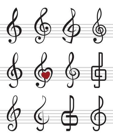 treble clefs