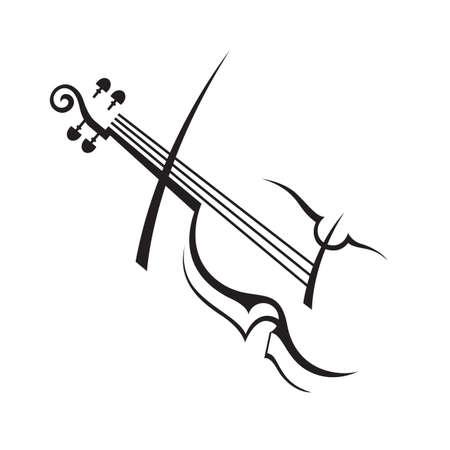 Illustration pour abstract monochrome illustration of violin - image libre de droit