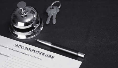 reservation of the hotel room and filling in the necessary documents