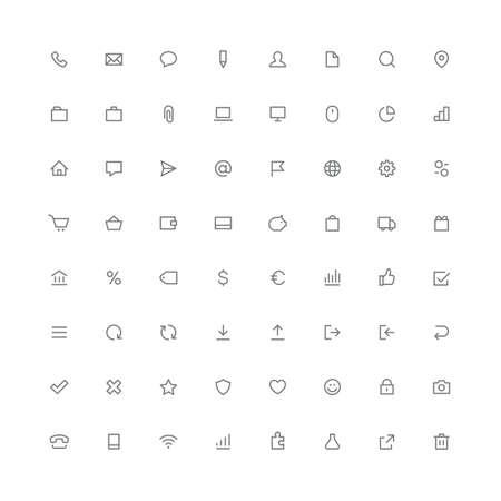 Illustration pour Total rounded icon set internet and website symbols - image libre de droit