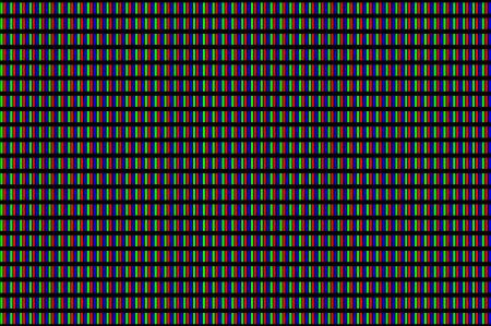 LCD screen pixels triads closeup on black background