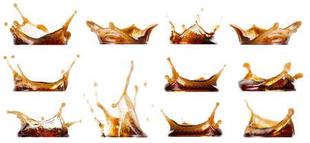 Photo pour Splash cola collection - image libre de droit