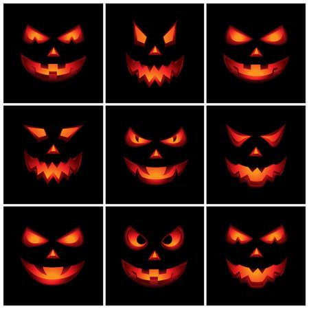Jack O Lantern Scary Faces