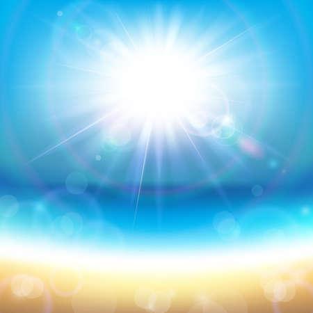 Illustration pour Sunshine Over the Sea - image libre de droit
