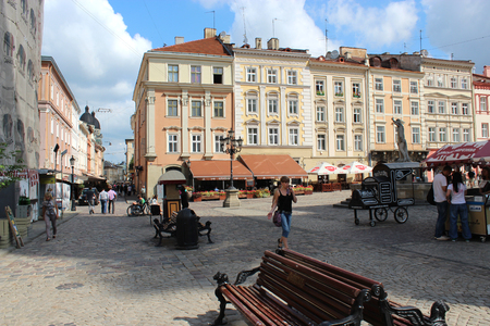 great architectural ensembles in the central patr of Lvov city