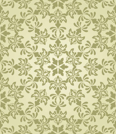 vector seamless vintage wallpaper pattern on gradient background