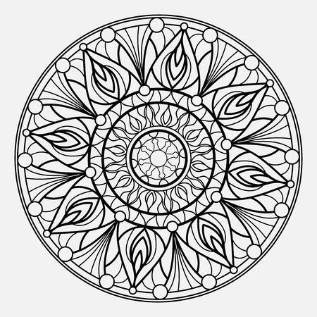 Illustration pour Mandalas for coloring book. Decorative round ornaments. Unusual flower shape. Oriental vector - image libre de droit