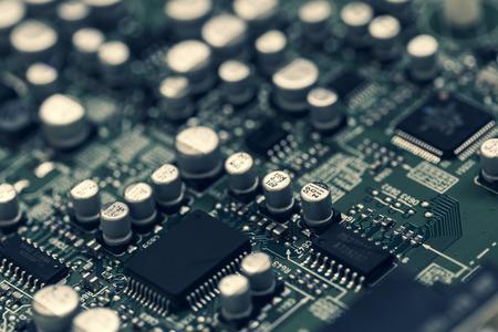 Photo pour Close-up of electronic board - image libre de droit