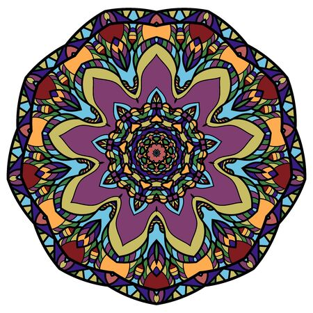 Illustration for Colorful mandala on a white background - Royalty Free Image