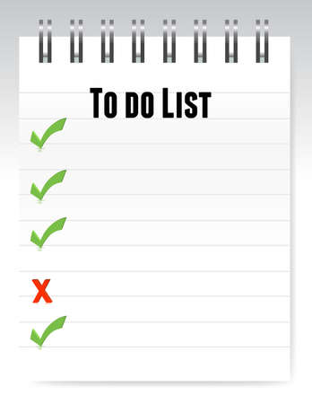Notepad to do list illustration design