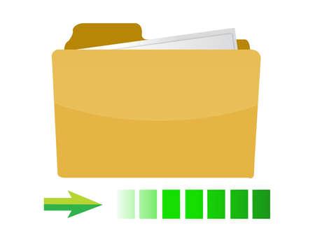 transferring folder icon concept illustration design on white