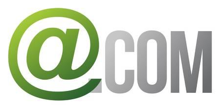 com text concept illustration design over white