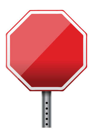 empty stop sign illustration design over white