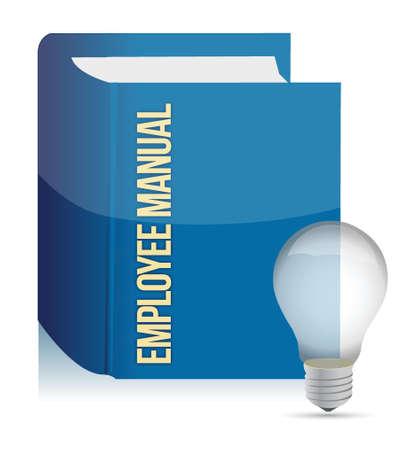 employee manual book illustration design over white