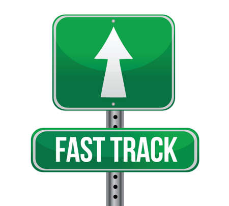 roadsign with a fast track concept illustration design
