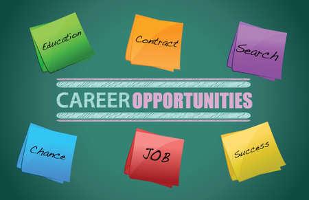 Illustration pour board on the background, Career opportunities illustration graphic design - image libre de droit