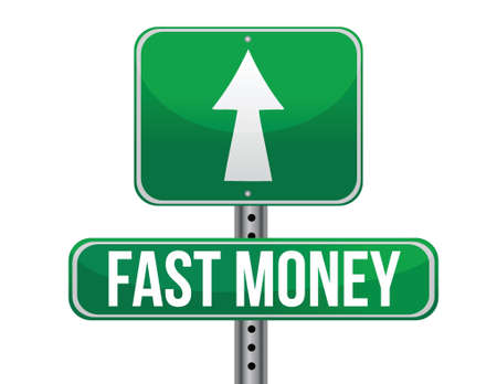 fast easy money illustration design over a white background