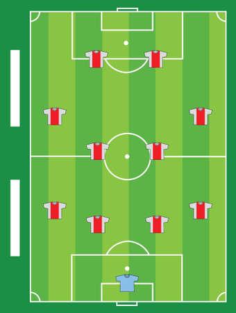 Soccer field team illustration design graphic board
