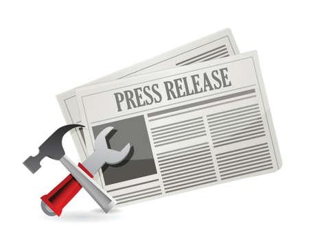 tools new press release illustration design over white