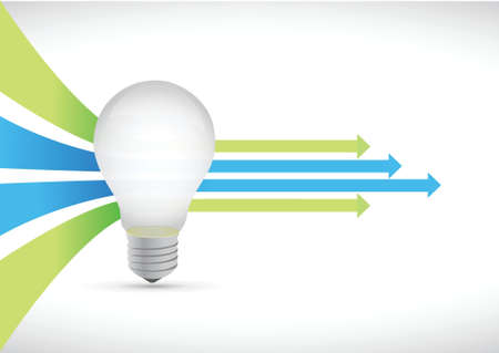 idea light bulb and Colored leader arrows concept illustration design