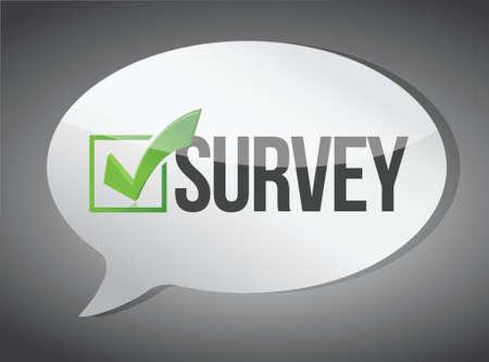 Illustration pour survey message communication concept illustration design graphic - image libre de droit