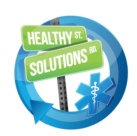 healthy solution road symbol illustration design over white