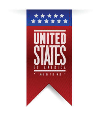 united states. usa flag banner illustration design graphic