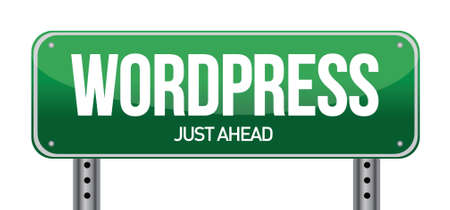 wordpress road sign illustration over a white background
