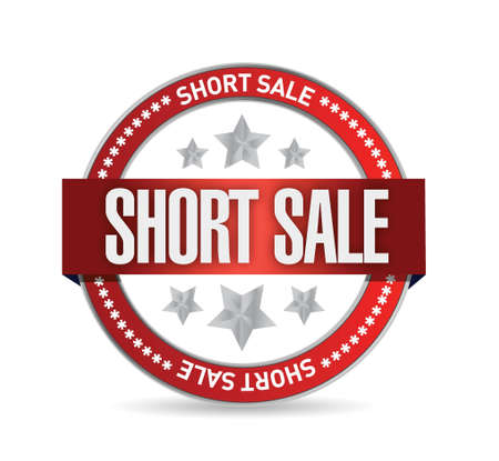 short sale seal stamp illustration design over a white background