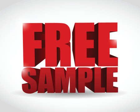 free sample text illustration design over a white background