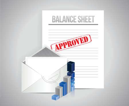 balance sheet approved concept illustration design background