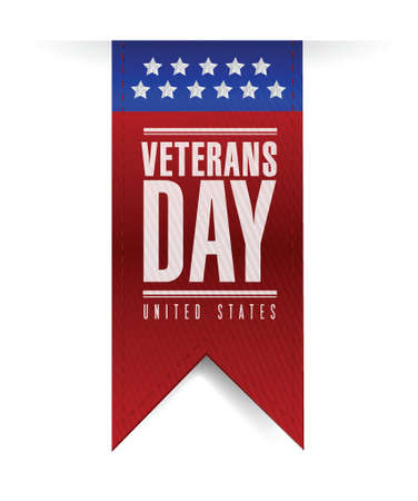 veterans day banner illustration design over a white background